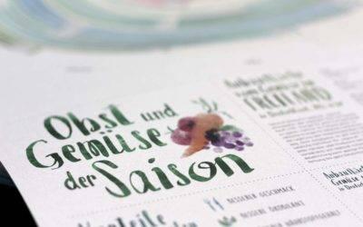 """Gewinnspiel: Gewinnen Sie den Wandkalender """"Obst & Gemüse der Saison"""""""