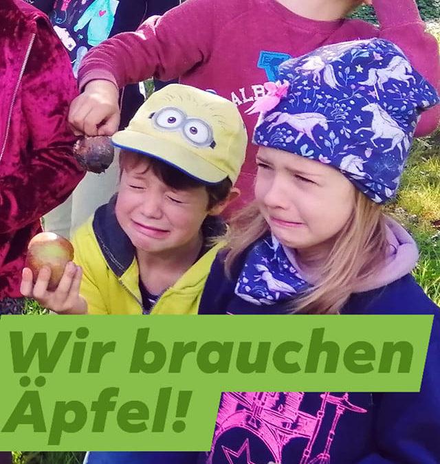 Wir brauchen Äpfel: Spendenaufruf!
